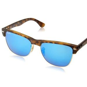 Ray-Ban Clubmaster Oversized Blue Tortoise Gold